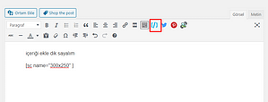kısa kod wordpress