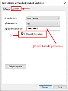 wi-fi şifresi